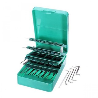 Locksmith Tools of Klom 32 Piece Pick Set with Upgraded Handles - Green