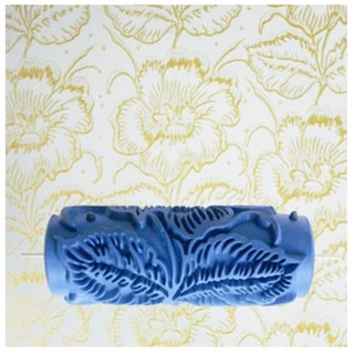 15cm Patterned Paint Roller Gumamela Flower - Blue