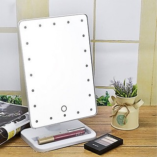 20 LED Lighted Makeup Vanity Mirror - White