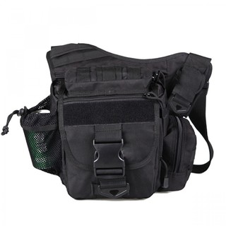 Tactical Multifunction Outdoor Shoulder Body Bag - Black