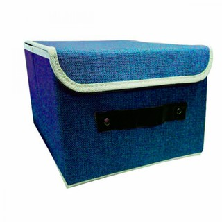 Foldable Fabric Storage Box - Blue