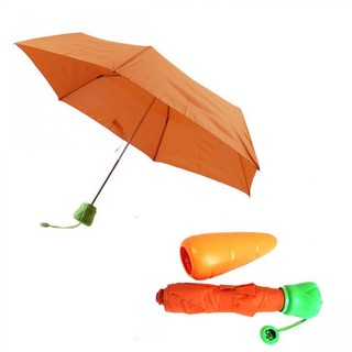 Carrot Folding Umbrella - Orange