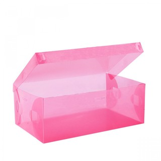 Transparent Shoe Box 33 x 20.5 x 12.5 cm - Pink