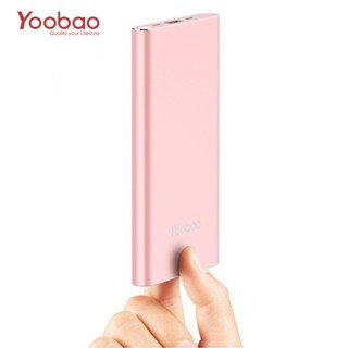 Yoobao 10000mah Slim Polymer Powerbank With Micro And Lighning Input Port - Pink