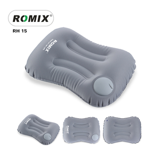 Romix Hand Inflatable And Foldable Travel Pillow - Gray