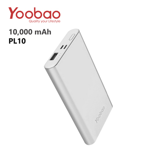 Yoobao PL10 10000 mah Polymer Power Bank - Silver