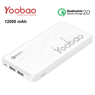 Yoobao PL12QC 12000 mah Lithium Polymer Powerbank with Qualcomm Quick Charge Port - White -