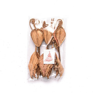 FLOWER PICK COPPER 6PC 29X21CM (56666)