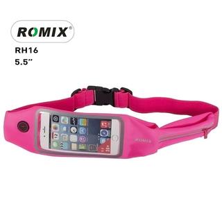 """Romix 5.5"""" Outdoor Touch Screen Sport Running Waterproof Purse Waist Bag - Pink"""