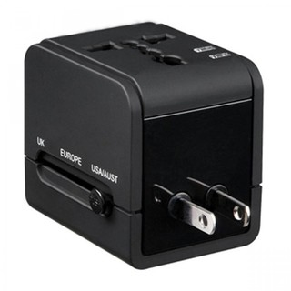 WORLD TRAVEL ADAPTER WTH 2.1A DUAL USB PORT