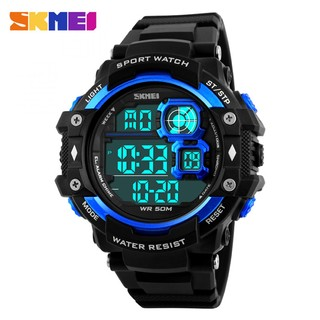 SKMEI 50M Water Resistant Sport Digital Watch - Blue