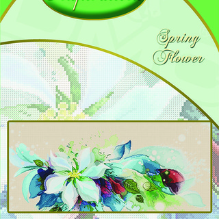 DMC INSPIRATIONS CROSS-STITCH KIT: SPRING FLOWER (ECK-141)