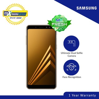 Samsung Galaxy A8 2018 32GB (Gold) Free Capdase Power bank 5000 mAh