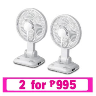 Rechargeable LED Desk Fan with Wall Mount 2 for 995