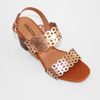 CELINA Heeled Sandals with Lazacut Design