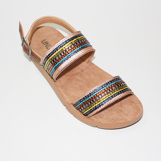 VERNA Flat Sandals with Abacca Lining
