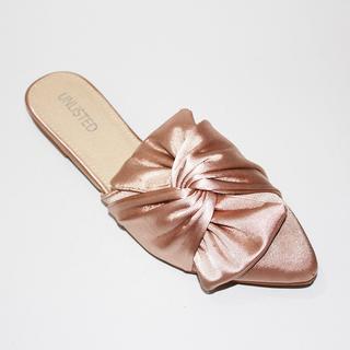 MIKA Slide Flip flops with Ribbon Design