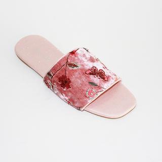 REJ Slide Flip flops with Flower Design