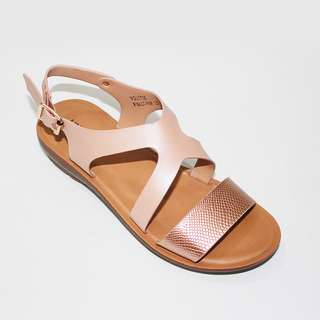 LEILA T strap sandals with Buckle Design