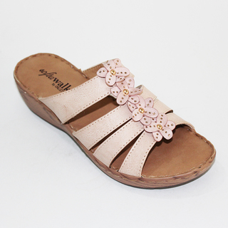 LYKA Wedge Sandals with Flower Design