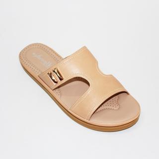 GEORGIA Slider Flat Sandals With Metal Design