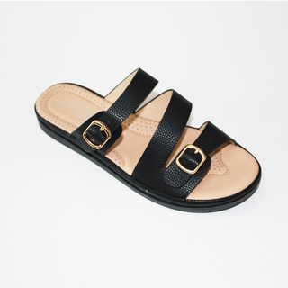 JANICE Flat Sandals With Buckle Design