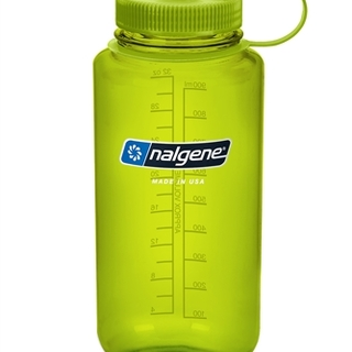 NALGENE  1L WM WATER BOTTLE - SPRING GREEN W-GREEN CAP 2178-2022