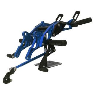 XRM125 3NITY BLUE/BLACK  RACING FOOTREST FULL SET - OKM RACING-044B