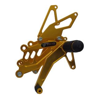 RAIDER 150 SET (HALF) GOLD - RACING FOOTREST - OKM RACING-014
