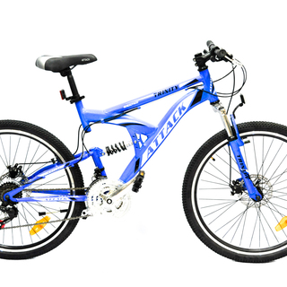 Mountain Bike 26 Attack Trinity Full Suspension Alloy Discbrakes - Blue