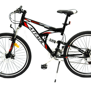 Mountain Bike 26 Attack Trinity Full Suspension Alloy Discbrakes - Black/Red
