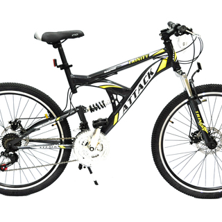 Mountain Bike 26 Attack Trinity Full Suspension Alloy Discbrakes - Grey