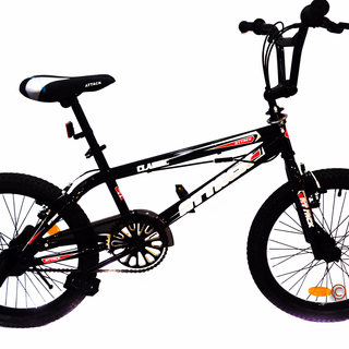 Bicycle Bmx 20 Attack Freestyle With Rotor And Footpeg - Black