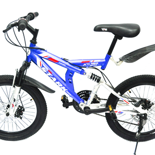 Mountain Bike 20 Stark Full Suspension Disc Brakes Mtb - Blue