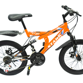 Mountain Bike 20 Stark Full Suspension Disc Brakes Mtb - Orange