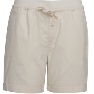 WOMENS LINEN MID RISE SHORTS