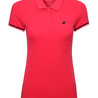 WOMEN'S FROG EMBROIDERY SHORT SLEEVES POLO