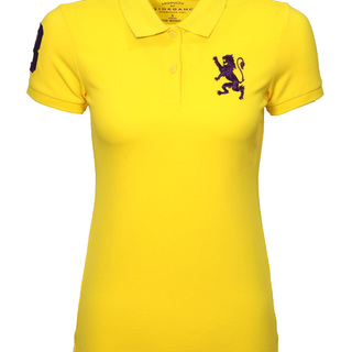 WOMEN'S 3D LION EMBROIDERY SHORT SLEEVES POLO
