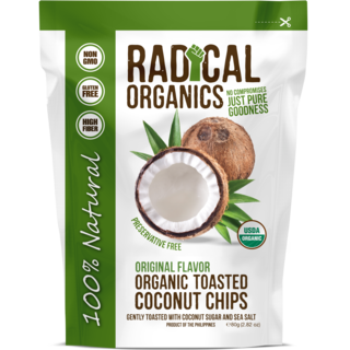 Buy Radical Organics Original Flavor Toasted Coconut Chips 80g Get a FREE Original Toasted 20g