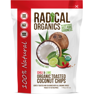 Buy Radical Organics Chili & Lime Toasted Coconut Chips 80g Get a FREE Original Toasted 20g