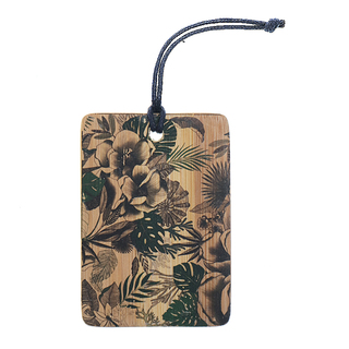 Floral Bamboo Bag tag