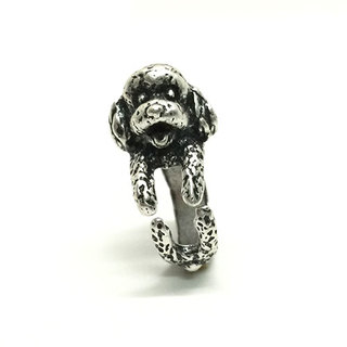 SILVER POODLE RING