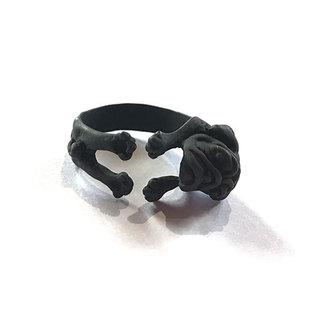 BLACK PUG RING