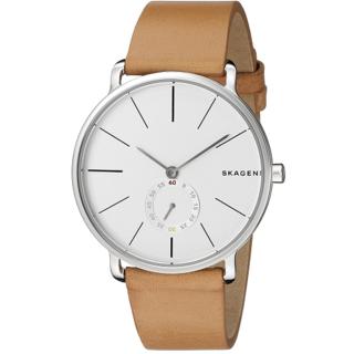 Skagen Men's SKW6215 Hagen White Dial Tan Leather Strap Watch