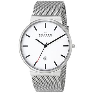 Skagen Men's SKW6052 Perspektiv White Dial Stainless Steel Mesh Watch