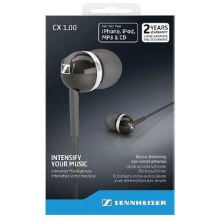 Sennheiser CX 1.00 In-Ear Headphones, Black