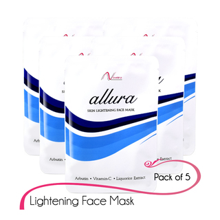 Novelina ALLURA - Skin Lightening Mask pack of 5pcs