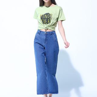 Denim Jeans w/ Side Slit (L8SPBJ11L)