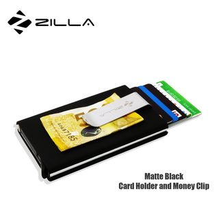Zilla PU Leather Card Dispenser With Money Clip - Black