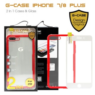 G-Case 2 in 1 Case and Glass Phone Protection for Iphone 7/8 Plus - Red